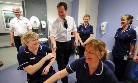 Cameron and Lansley meet nurses