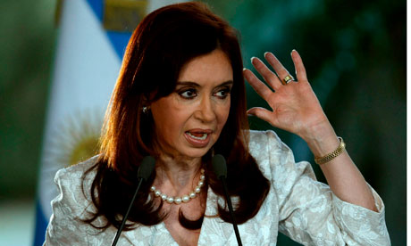 Argentina's president, Cristina Kirchner, whose popularity