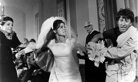 Anne Bancroft, Katharine Ross and Dustin Hoffman in The Graduate.