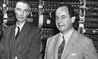Oppenheimer and von Neumann with Early Computer