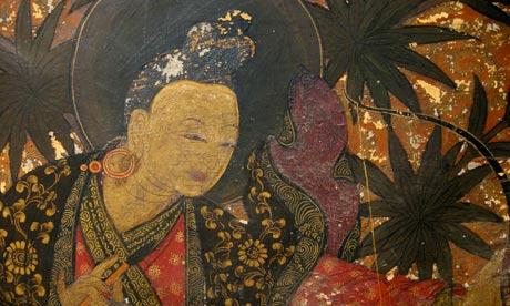bhutan wall painting