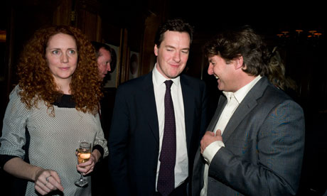 Rebekah and Charlie Brooks, pictured with George Osborne