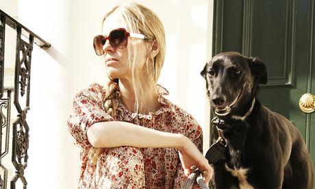 laura bailey and dog