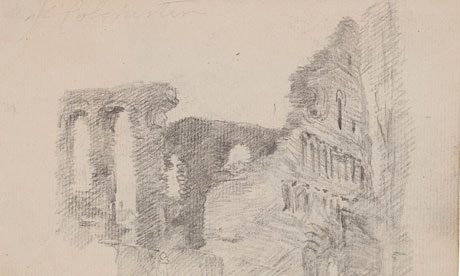 Constable sketch St Botolph's Priory