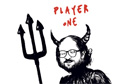Salman Rushdie as devil games player