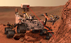 NASA image of the rover Curiosity