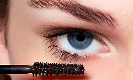 mascara by eye, close-up, cosmetics, make up