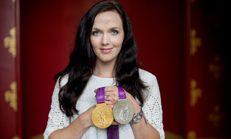 Victoria Pendleton with medals