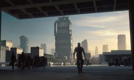 Dredd, set in Mega City One in a dystopian future America.