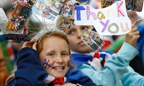 Children cheer Team GB