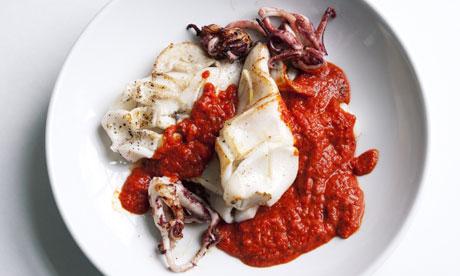 nigel slater squid romesco