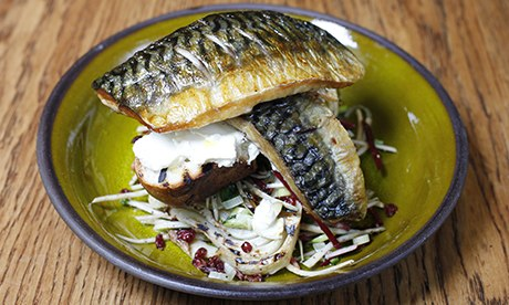 Mackerel salad at Zest at JW3