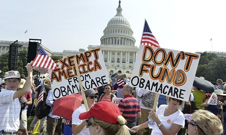 Tea Party Rally To Protest Obamacare In Washington D.C.