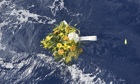 Flowers for victims of Lampedusa sinking