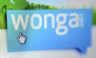 Screen grab of a computer icon searching on the Wonga logo