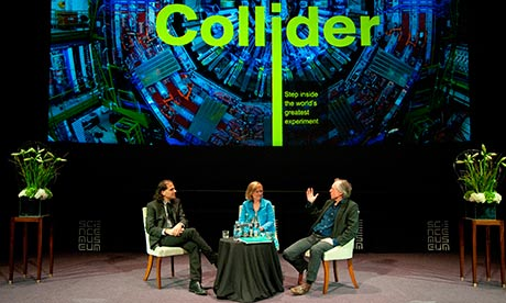 Nima Arkani-Hamed, Martha Kearney and Ian McEwan ay London's Science Museum