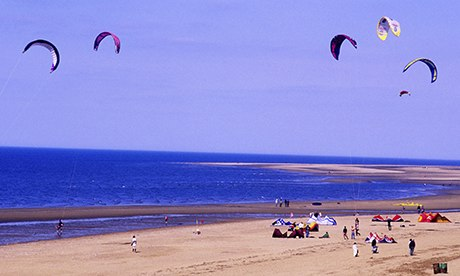 Kites kite flying Old Hunstanton beach