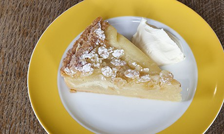 Pear and almond tart at the Magdalen Arms