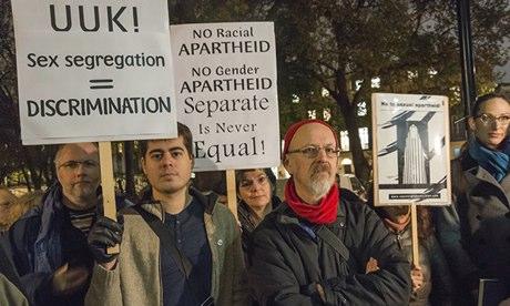 London Protest Against Sex Segregation in UK Universities