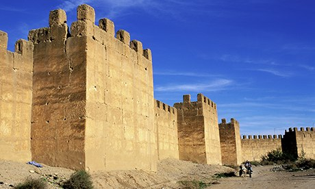 The encastellated walls of Taroudant in Morocco