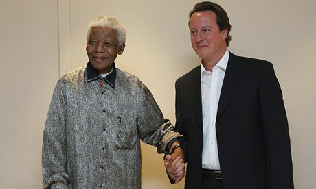 David Cameron meets Mandela