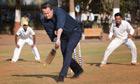 David Cameron plays cricket in Mumbai