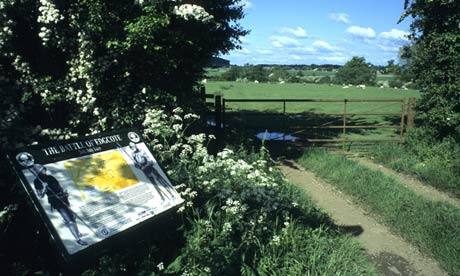 Information board at the Battle of Edgcote site, Oxfordshire