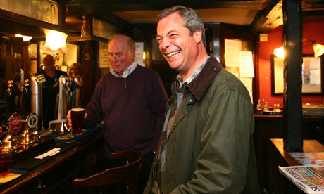 Ukip's Nigel Farage in the pub
