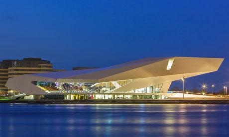 位于未来派建筑内的荷兰eye电影学院:阿姆斯特丹对于伦敦国家影