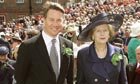 Margaret Thatcher with Michael Portillo