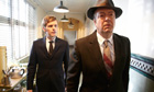 Shaun Evans as the young Morse and Roger Allam as DI Fred in ITV's Endeavour.