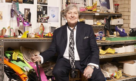 Terry de Havilland in his London studio with shoes