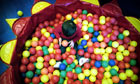 pre-school child in ball pool