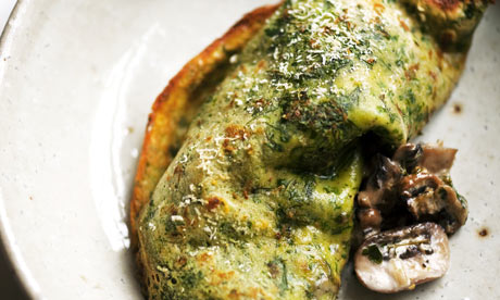 herb pancakes withNigel Slater's herb pancake with mushrooms and ...