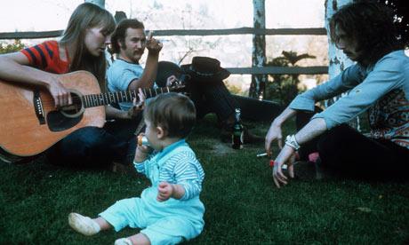 Eric Clapton, David Crosby and Joni Mitchell