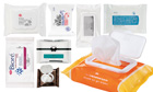 selection of cleansing wipes