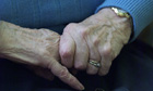 elderly hands woman