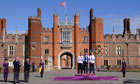 2012 Olympics men's time-trial race winners pose at Hampton Court