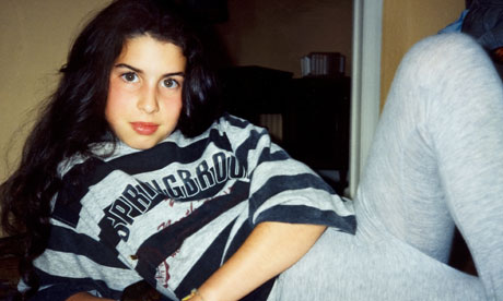 Amy in stripy sweatshirt