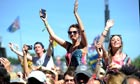 Music fans at Glastonbury Festival 2013