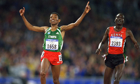 Haile Gebrselassie and Paul Tergat