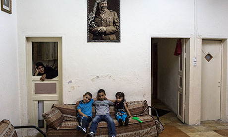 A Muslim family living in Jerusalem