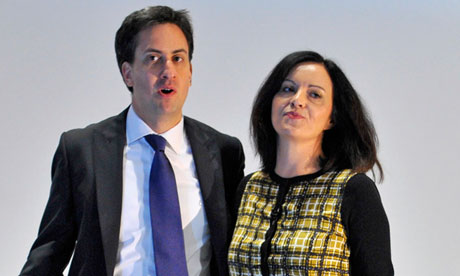Ed Miliband and Caroline Flint