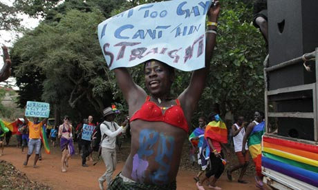 Uganda gay pride march