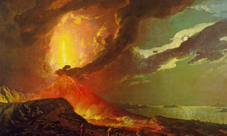Vesuvius, Joseph Wright, art