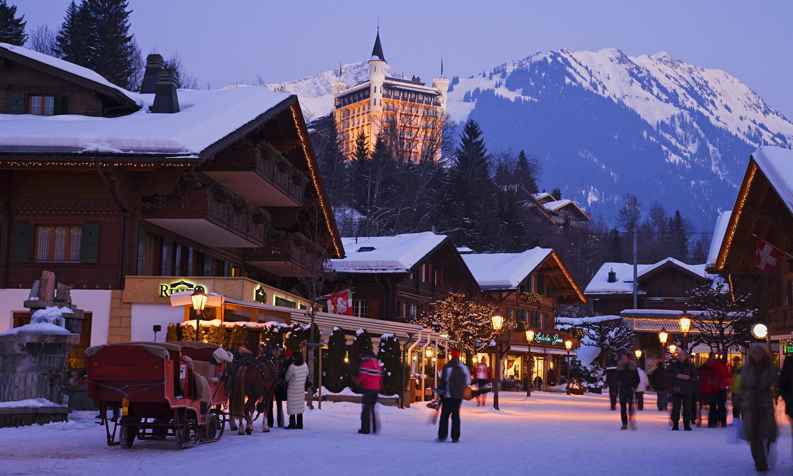 swiss skiing gstaad on a budget travel the guardian