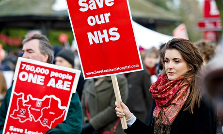 Lewisham hospital protest