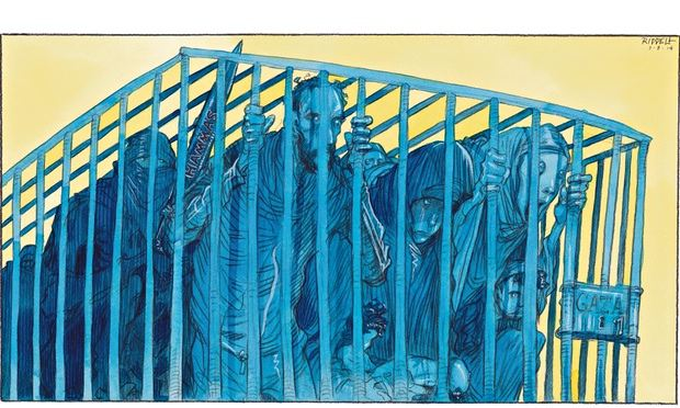 Plight of the people of Gaza Chris Riddell on the conflict in the Palestinian territories