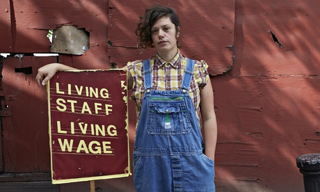 Nia Hughes, who is fighting for a living wage at the Brixton Ritzy cinema in London.