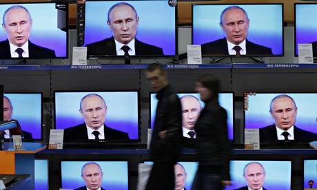 Vladimir Putin's 'misinformation' offensive prompts US to deploy its cold war propaganda tools